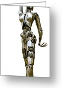 Nudes Sculpture Greeting Cards - Robotica III Greeting Card by Greg Coffelt