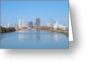 Rochester Ny Greeting Cards - Rochester NY Greeting Card by Monica Roche