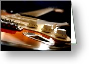String Instrument Greeting Cards - Rock & Soul Greeting Card by Pasotraspaso.  Jesus Solana