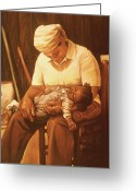 Realistic Pastels Greeting Cards - Rock-a-bye Grandma I Greeting Card by Curtis James