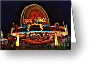 Photographers  Tallapoosa Greeting Cards - Rock and Roll at the County Fair Greeting Card by Corky Willis Atlanta Photography