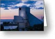Hall Of Fame Photo Greeting Cards - Rock and Roll Hall of Fame Greeting Card by Dale Kincaid