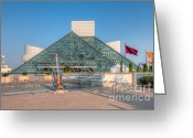 Hall Of Fame Photo Greeting Cards - Rock and Roll Hall of Fame I Greeting Card by Clarence Holmes
