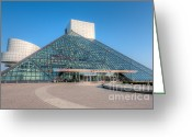 Hall Of Fame Photo Greeting Cards - Rock and Roll Hall of Fame II Greeting Card by Clarence Holmes