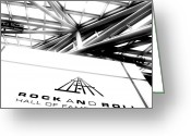 Music Artists Greeting Cards - Rock and Roll Hall Of Fame Greeting Card by Kenneth Krolikowski