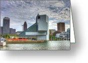 Hall Of Fame Photo Greeting Cards - Rock and Roll hall of fame Greeting Card by Robert Pearson