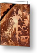 Brown Tones Photo Greeting Cards - Rock Art of the Ancients Greeting Card by The Forests Edge Photography - Diane Sandoval