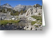 Mammoth. Greeting Cards - Rock Creek Hike Greeting Card by Kelley King