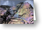 Yak Greeting Cards - Rock Face on the Coquihalla Greeting Card by Barbara  White