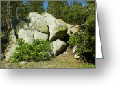 Photo Art Greeting Cards - Rock formation Greeting Card by Jose Valeriano