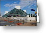 Amplifier Greeting Cards - Rock Hall Of Fame Greeting Card by Robert Harmon