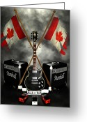 Frederico Borges Greeting Cards - Rock n Roll crest- Canada Greeting Card by Frederico Borges