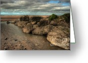 Hare Greeting Cards - Rock Pool Greeting Card by John D Hare