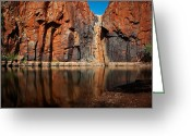 Natural Formations Greeting Cards - Rock Reflections Greeting Card by Heather Thorning