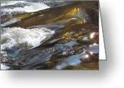 Christine Hafeman Greeting Cards - Rock Reflects Greeting Card by Christine Hafeman