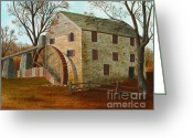 Mill Stone Greeting Cards - Rock Run Mill on the Susquehanna Greeting Card by Robin Capecci