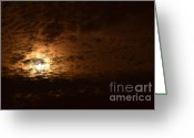 Alto Cumulus Greeting Cards - Rock Sky Moon  Greeting Card by Rene Triay