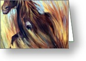Freedom Painting Greeting Cards - Rock Star Greeting Card by Joanne Smoley