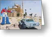 War Greeting Cards - Rock the Casbah Greeting Card by Scott Listfield