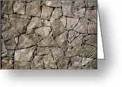Size Different Greeting Cards - Rock wall Greeting Card by Bernard Jaubert