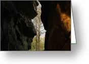Wv Greeting Cards - Rock Window Greeting Card by Melissa Petrey