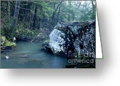 Virginia Winter Greeting Cards - Rockcamp Run Greeting Card by Thomas R Fletcher
