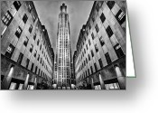 Odd Greeting Cards - Rockefeller Centre Greeting Card by John Farnan