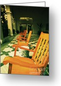 Rocking Chairs Greeting Cards - Rockers Greeting Card by Cheryl Young