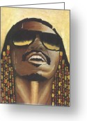 Keenya Woods Greeting Cards - Rocket Love - Stevie Wonder  Greeting Card by Keenya  Woods