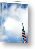 Alan Look Greeting Cards - Rockets Red Glare Greeting Card by Alan Look
