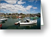 Rockport Ma Greeting Cards - Rockport Boats Greeting Card by Warren Carrington