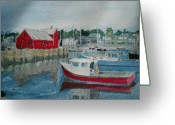 Rockport Ma Greeting Cards - Rockport Greeting Card by David Poyant