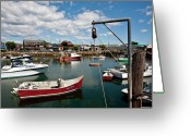 Rockport Ma Greeting Cards - Rockport Harbor Greeting Card by Warren Carrington