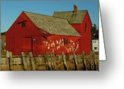 Rockport Ma Greeting Cards - Rockport Motif Number 1 Greeting Card by Juergen Roth