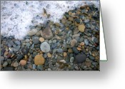 Seafoam Greeting Cards - Rocks and Pebbles Greeting Card by Stephanie Troxell