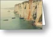 Clear Photo Greeting Cards - Rocks In Etretat, France Greeting Card by Photo by Ira Heuvelman-Dobrolyubova