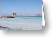 Clear Photo Greeting Cards - Rocks In Sea Greeting Card by ZMI66 from