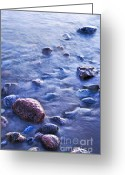 Dusk Greeting Cards - Rocks in water Greeting Card by Elena Elisseeva