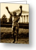 Art Museum Greeting Cards - Rocky - Heart of a Champion  Greeting Card by Bill Cannon