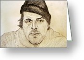 Philadelphia  Drawings Greeting Cards - Rocky Balboa Sylvester Stallone Greeting Card by Donald William