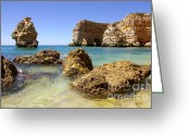 Oceanic Landscape Greeting Cards - Rocky coast Greeting Card by Carlos Caetano