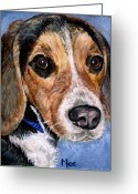 Hunting Dogs Greeting Cards - Rocky Greeting Card by Mary-Lee Sanders