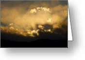 Rocky Mountain Prints Greeting Cards - Rocky Mountain Continental Divide Sunset Greeting Card by James Bo Insogna