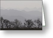 Rocky Mountain Prints Greeting Cards - Rocky Mountain Haze Panorama Greeting Card by James Bo Insogna
