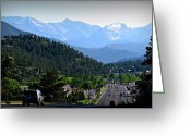 Southern Rocky Mountains Greeting Cards - Rocky Mountain National Park Views Greeting Card by Aaron Burrows