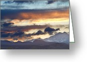 Walls Framed Prints Prints Greeting Cards - Rocky Mountain Springtime Sunset 2 Greeting Card by James Bo Insogna