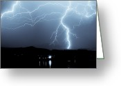 Supercell Greeting Cards - Rocky Mountain Storm  Greeting Card by James Bo Insogna