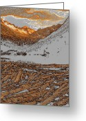 Snow Capped Digital Art Greeting Cards - Rocky Mountain Winter Greeting Card by David Lee Thompson