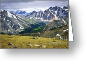 Mountain Summit Greeting Cards - Rocky Mountains in Jasper National Park Greeting Card by Elena Elisseeva