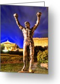 Philadelphia Museum Of Art Greeting Cards - Rocky Greeting Card by Paul Ward